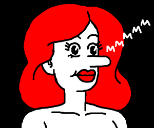 Red haired girl humming