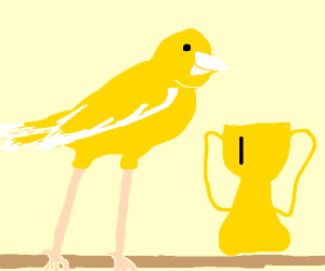 Ridiculously long legged canary wins gold!