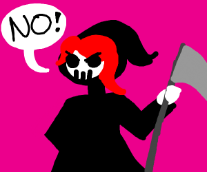 death has red hair