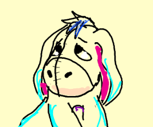 A sad baby Eeyore