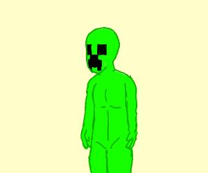 Creeper/human fusion