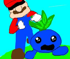Mario catches oddish
