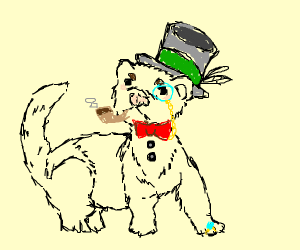 a very fancy ferret