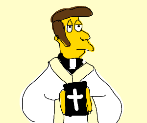 priest from the simpsons