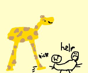 giraffe kicks conjoined twins