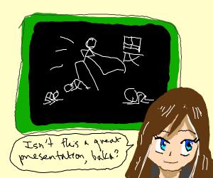 kawaii sailor girl teaches how to be cocky