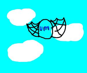 blue flying um