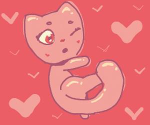 shiny looking anime cat