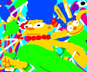 Marge Simpson on LSD
