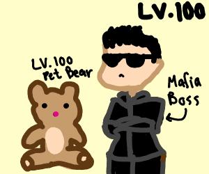 Russian mafia boss with pet bear