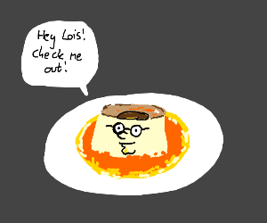 Flan with Peter Griffin face
