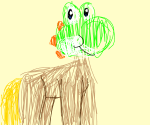 horse with the head of yoshi
