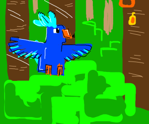 Minecraft Parrot (blue)
