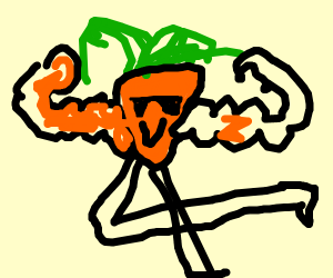 Carrot getting STRONK