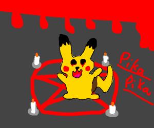 pikachu on a pentagram