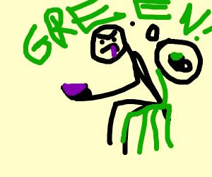 person got purple tea rather than green :o