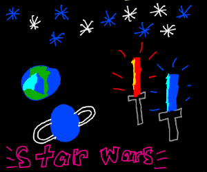 light sabers in space