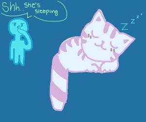 She's sleeping