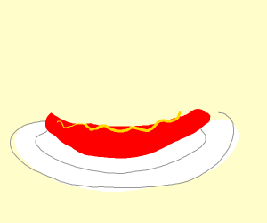 hot dog,mustard,no bun