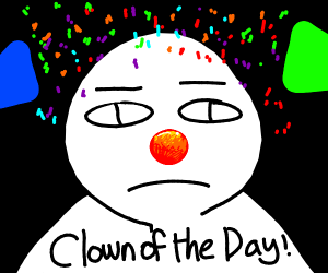 Person with a clown nose