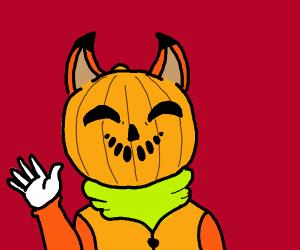 Fixer the Pumpkin Headed Fox