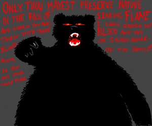 Scary only you can prevent forest fires bear