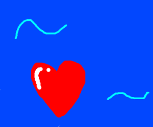 Heart drifting through the sea