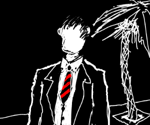 Man in suit with no face
