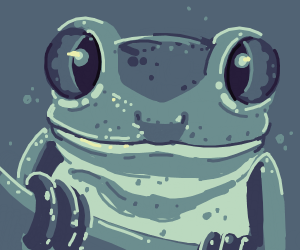 Cute Frog with Big Eyes