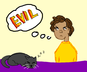 Person thinks cats are evil