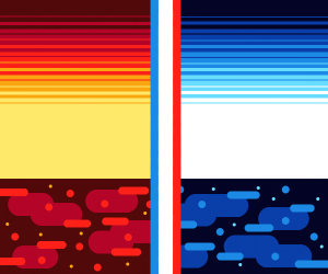 Water and lava