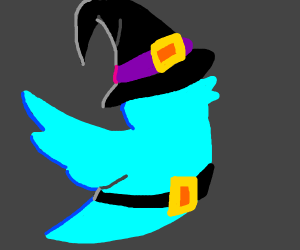 Twitter bird is a witch