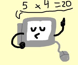 computer solves 5x4
