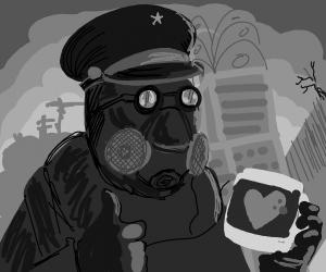 Happy Gas Mask Guy
