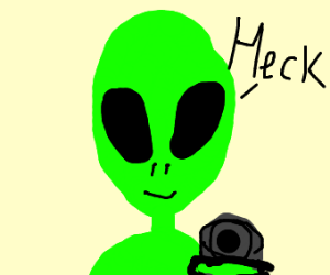 Alien with gun says bad words