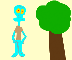 Squidward finds a tree