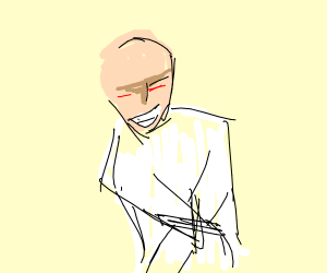 Prisoner in straight jacket