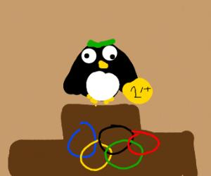 Penguin won the Olympics