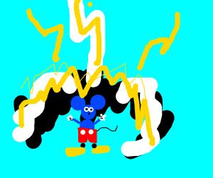 God zaps a blue mickey