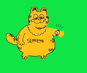 THICCC garfield flexing on me