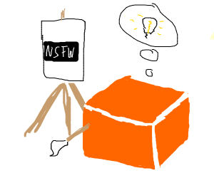 orange cube got a great idea, must paint it
