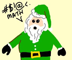Green Santa swears because he can't do math