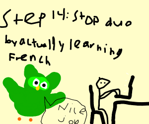 step: 13 run from duolingo
