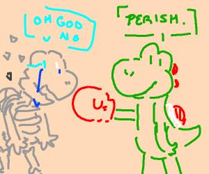 Yoshi punching dry bones