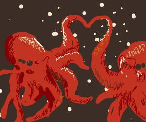 Space octopi in love
