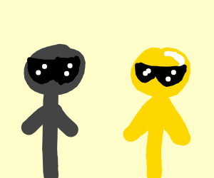 Gold and Grey cool guys