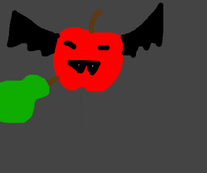 Fruit bat getting impaled by fruit
