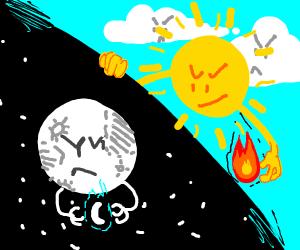 Night vs Day (moon vs sun)
