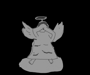 Angel statue covering its eyes