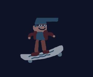 Dude on a skateboard